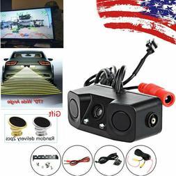 Car Backup Parking Radar Rear View Camera With Parking Senso