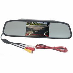 Car Mirror Monitor Rear View Backup Reverse Camera Parking S
