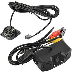 Car Radar Detectors Backup Rear Camera 3 In 1 Video Parking