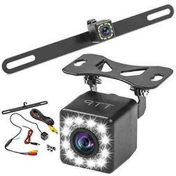 Car Rear View Backup Camera HD LCD 12 LEDs Night Vision Reve