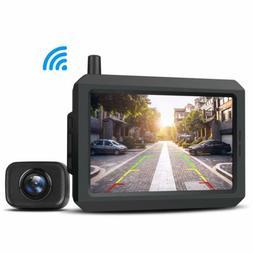AUTO-VOX W7 Digital Wireless Backup Camera 5'' LCD Monitor I
