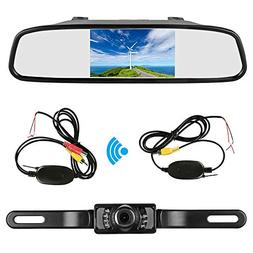 "Podofo 4.3"" Car TFT LCD Mirror Monitor Wireless Reverse Car"