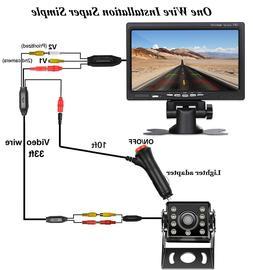 """Car Van Truck Backup Camera + 7"""" LCD Rear View Monitor Parki"""