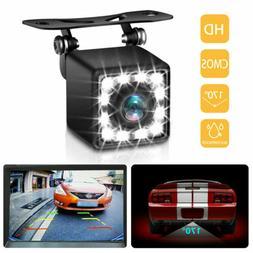 Car Vehicle Backup Cameras Camera Rear View HD 12 LEDs Night