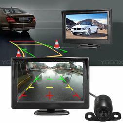 Car Vehicle Reversing Backup Camera 170°+5 Inch LCD Monitor