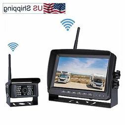 "Digital Wireless Backup Parking System Kit 7"" LCD Monitor Sc"