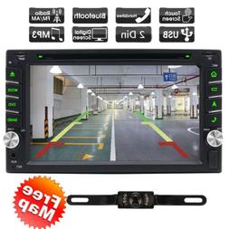 Double 2Din Car Stereo DVD Player Multimedia Aux Bluetooth G