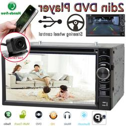Double Din Car Stereo with backup camera Touch Screen DVD Pl