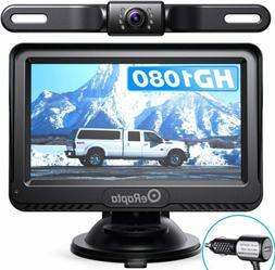 """eRapta Waterproof License Car Backup Camera 4.3"""" Monitor Rev"""