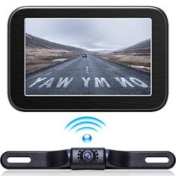 Wireless Backup Camera with Monitor System 5'' LCD Wireless
