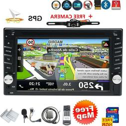 Backup Camera Double 2 Din Car Stereo Radio CD DVD Player Bl