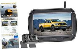 HD Digital Wireless Backup Camera with Monitor Kit Hitch Rea