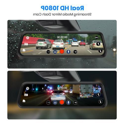 "10"" Junsun FHD Dash Cam Backup"