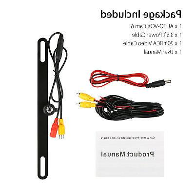 170° License Plate Rearview Backup Camera For Cars