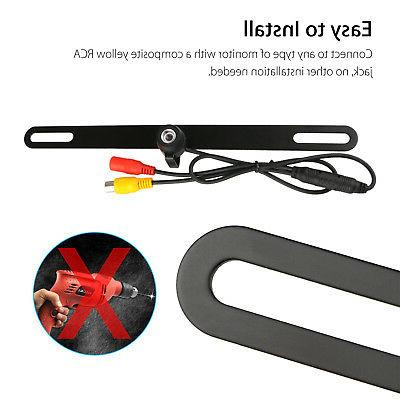 170° Rear View Reverse License Plate Parking Backup Camera Cars