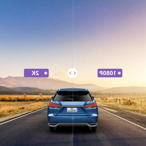 "2K Rear Mirror 12"" Backup Car Camera Waterproof"
