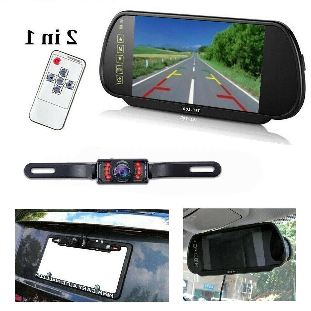 "7"" Car Rear View Monitor Reverse Camera Kit"