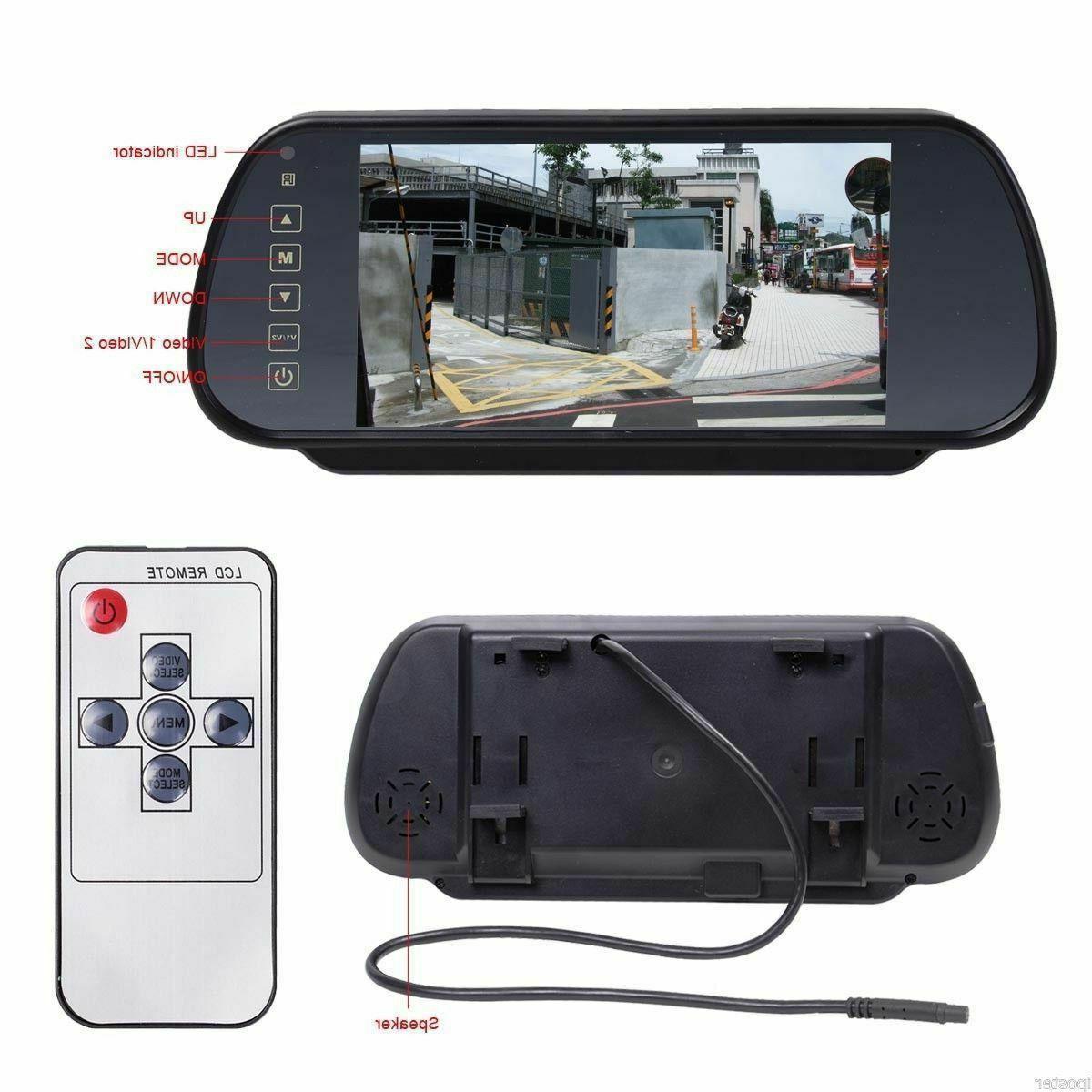 "7"" Car LCD Screen Rear View Monitor IR Camera"