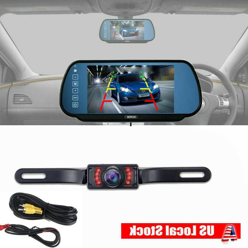 "7"" Car Screen Rear View Monitor + IR Camera Wird Kit"