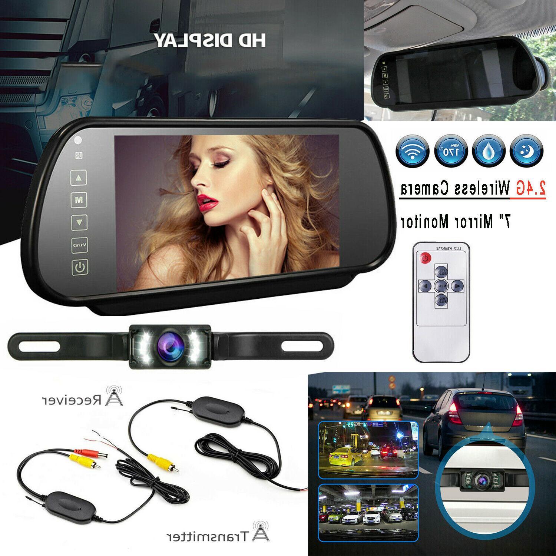 7 car rear view backup mirror monitor