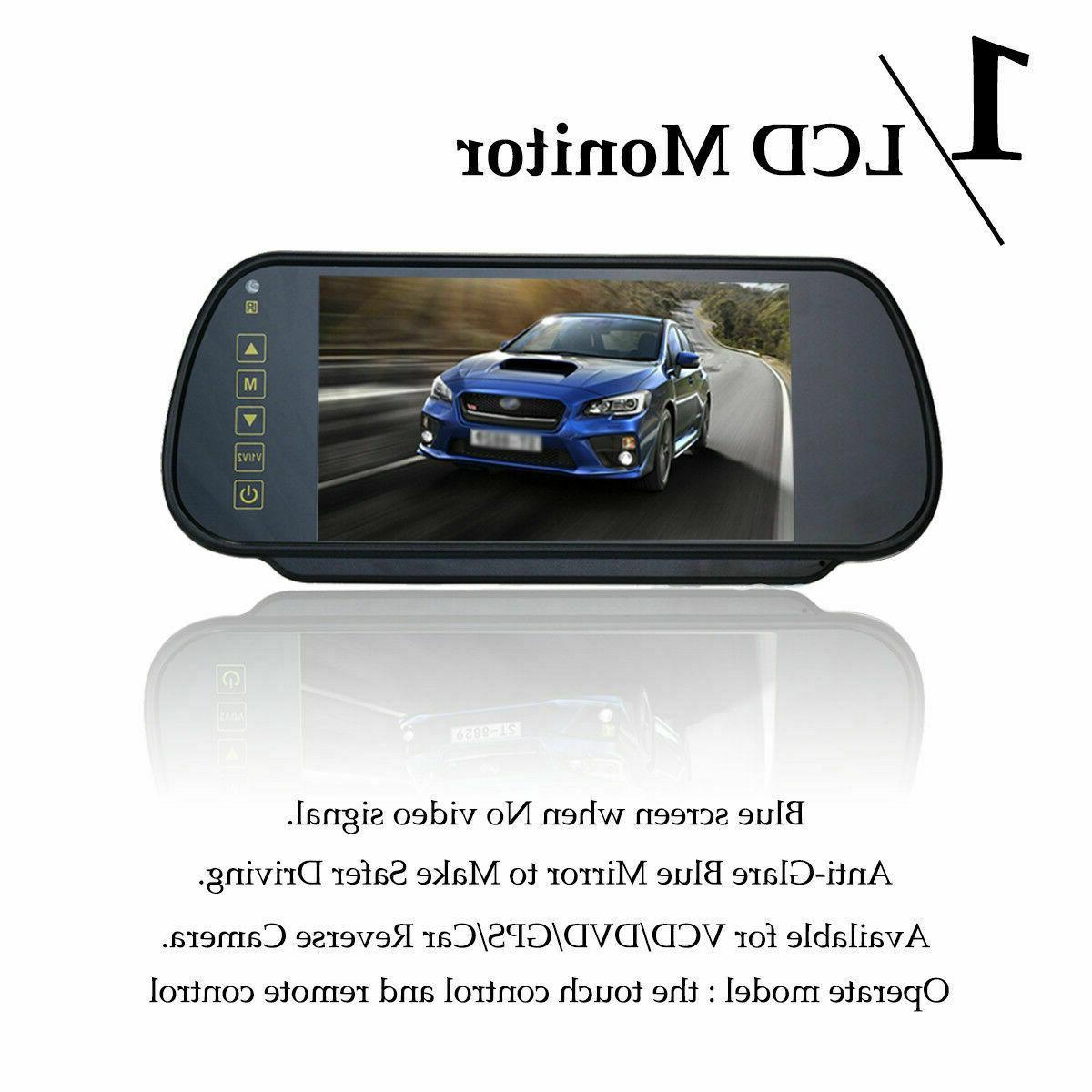 7'' Car View Backup Mirror Monitor LCD +Wireless Camera System