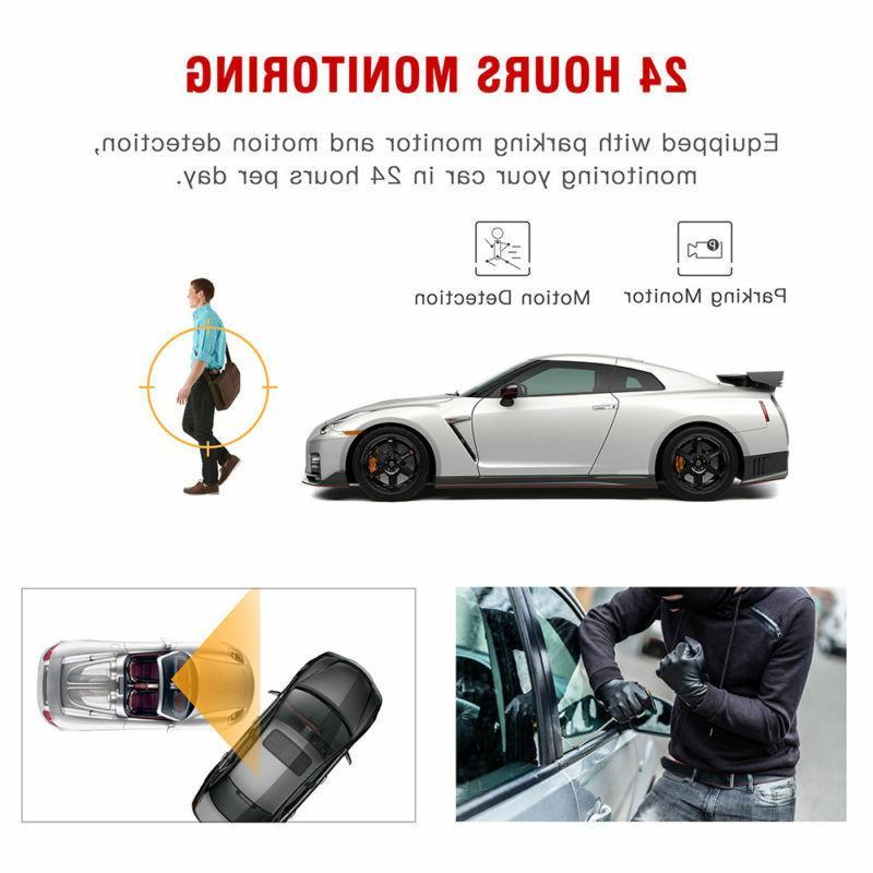 "TOGUARD 7"" Dual Dash Cam Car Mirror US"