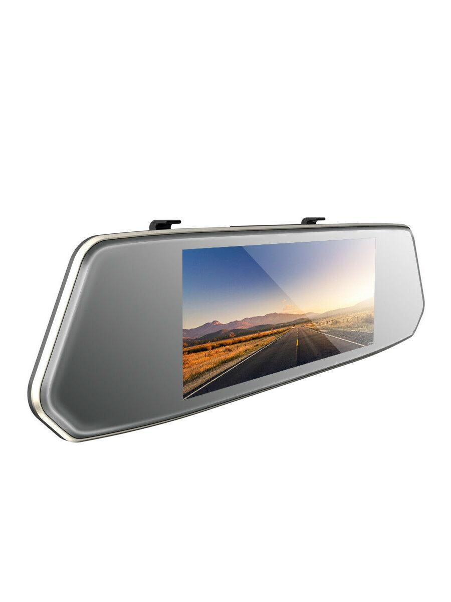 TOGUARD Dual Dash Car DVR View Mirror Backup Camera