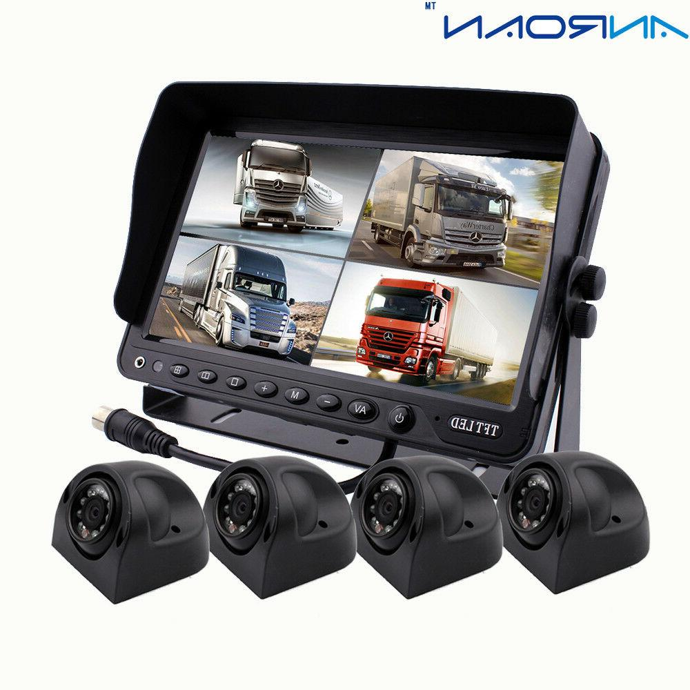 9 monitor car backup camera system 4x