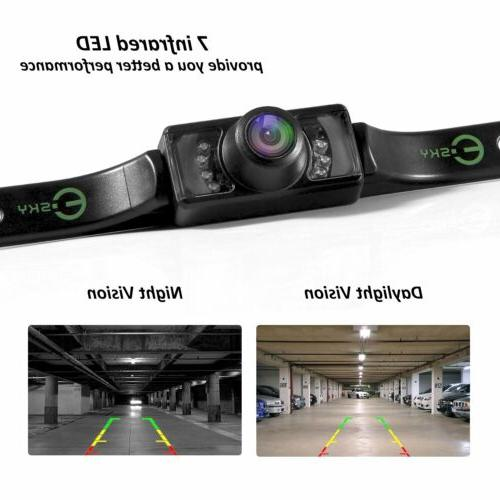 Night Vision License Plate Mount Rear View Color Car Backup
