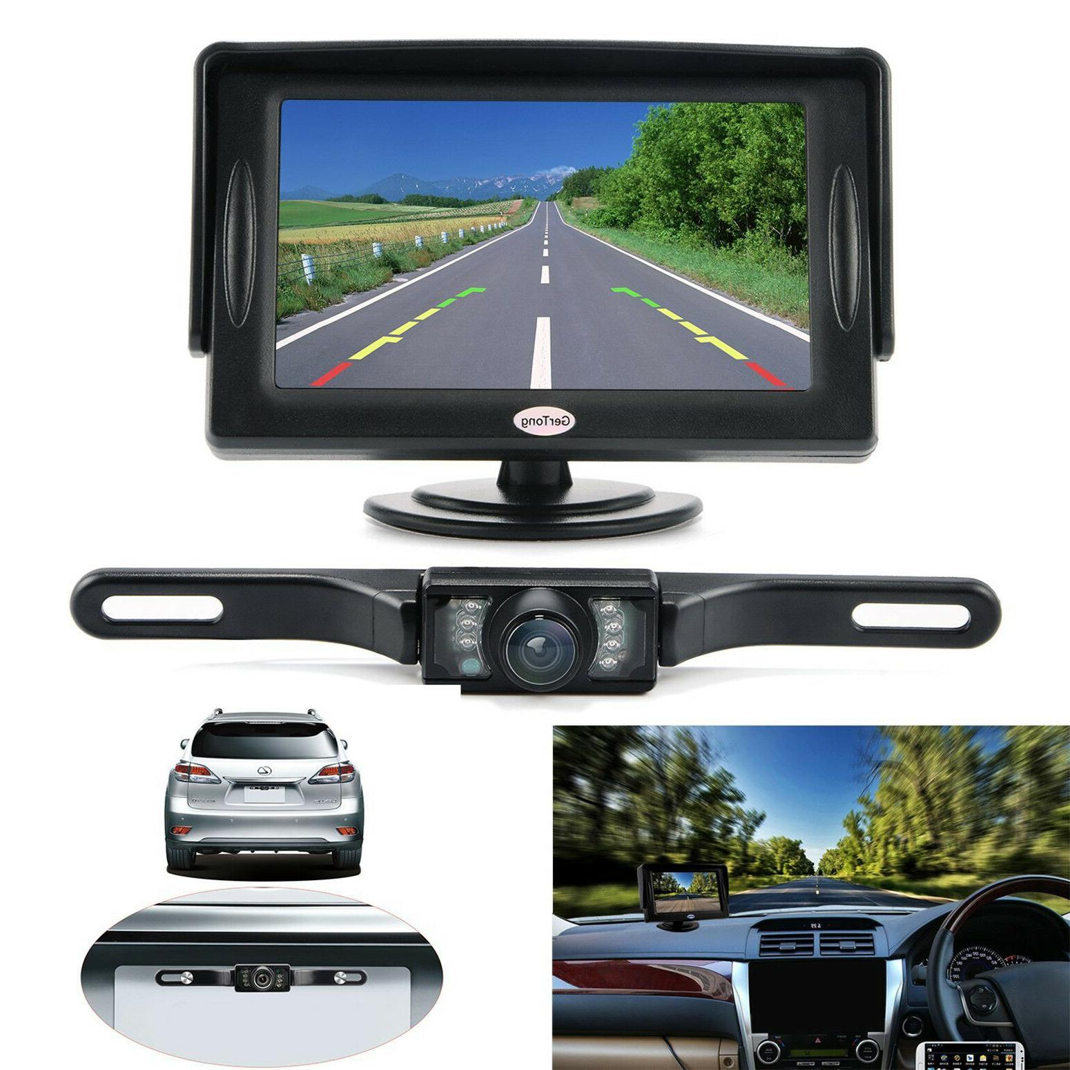 Universal Backup Camera System w/ LCD Monitor 4.3 Car Wired