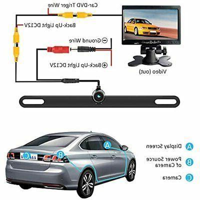 Backup Upgraded Waterproof HD Plate Cameras,