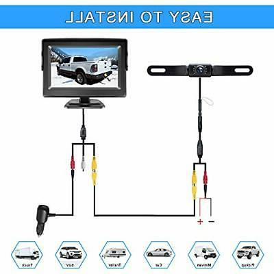eRapta Backup Camera ERT01 with 4.3 License Up Camera