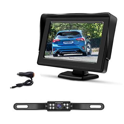 backup camera kit 4 3 monitor vehicle