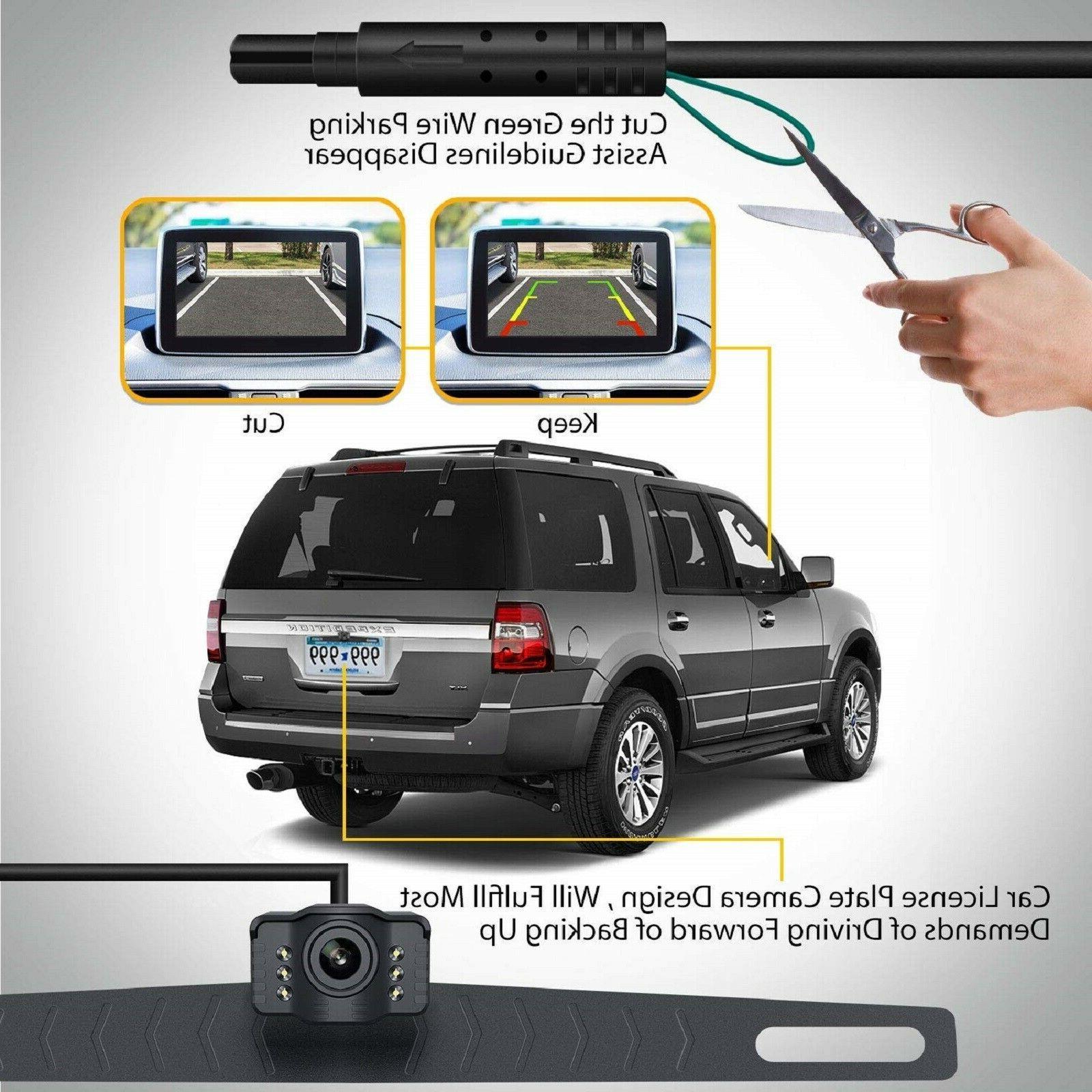 Xroose Backup License Plate Vision Car