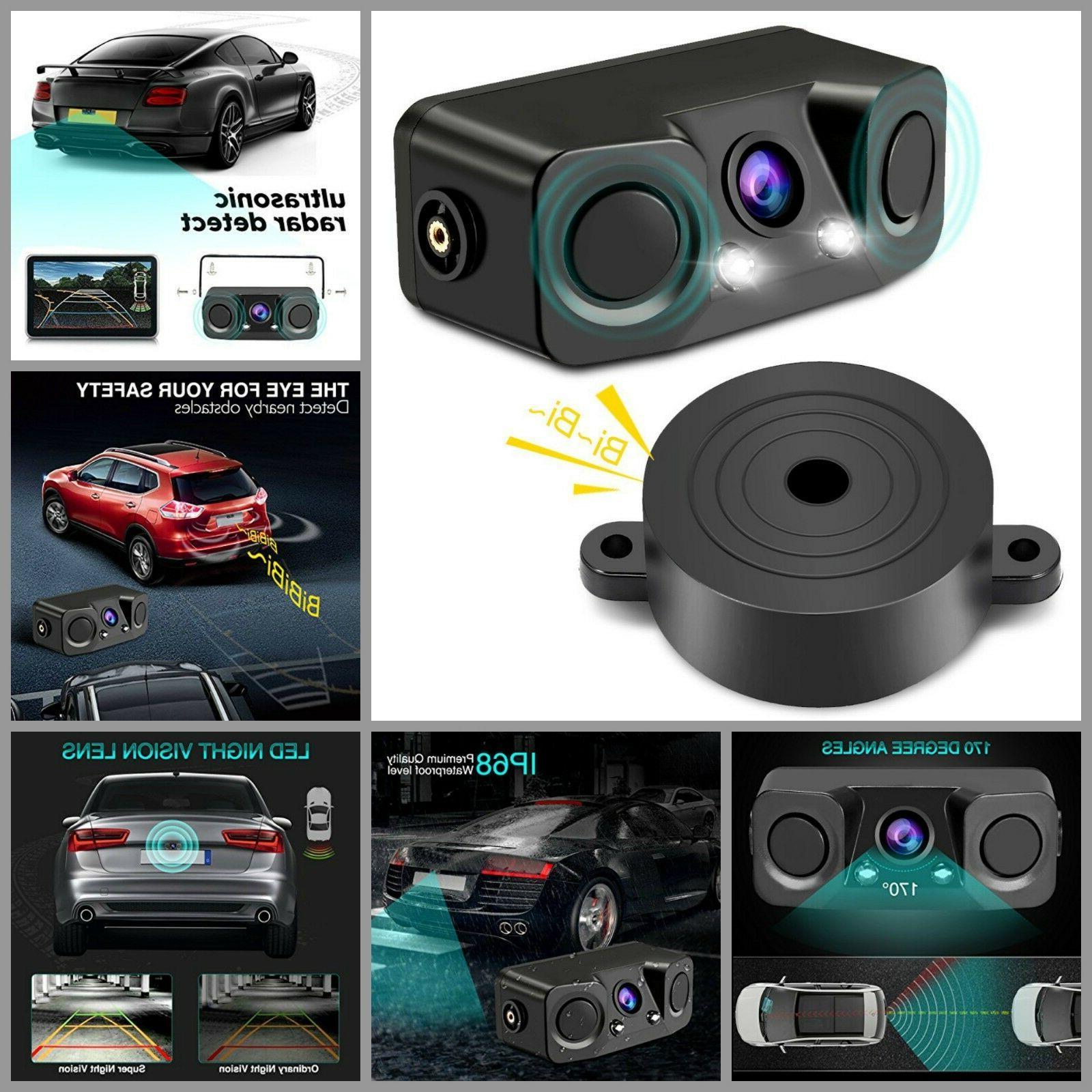 Car Camera With Parking Sensor Car Backup Rear Camera Waterp