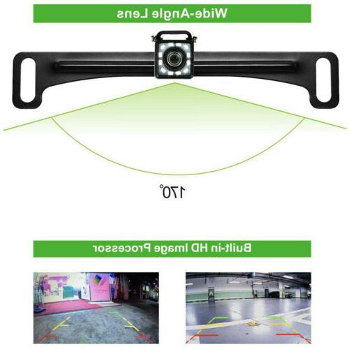 Car Plate Camera View Reverse Parking Night 12LED CMOS