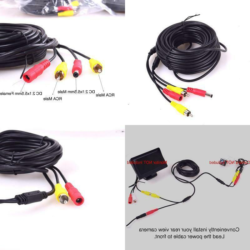 car rca dc video extension cable