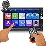 Car Rear View Camera + Ewalite 7 inches Double Din Touchscre