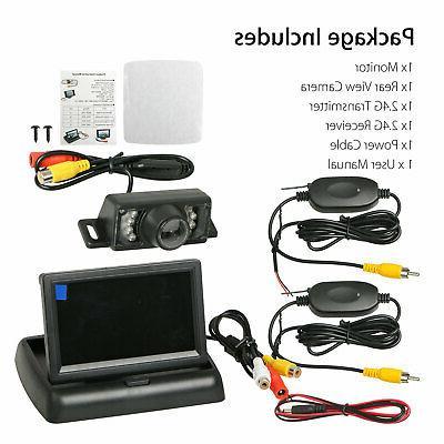 Wireless Backup Camera Monitor Kit Rear System Night