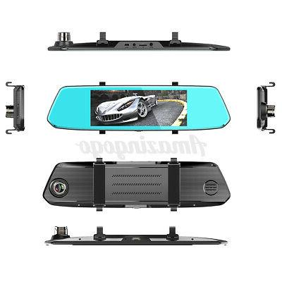 Dual 7'' Backup Mirror Parking System View