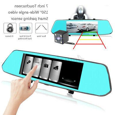 Dual 7'' Backup Camera System Kit Car View Reverse