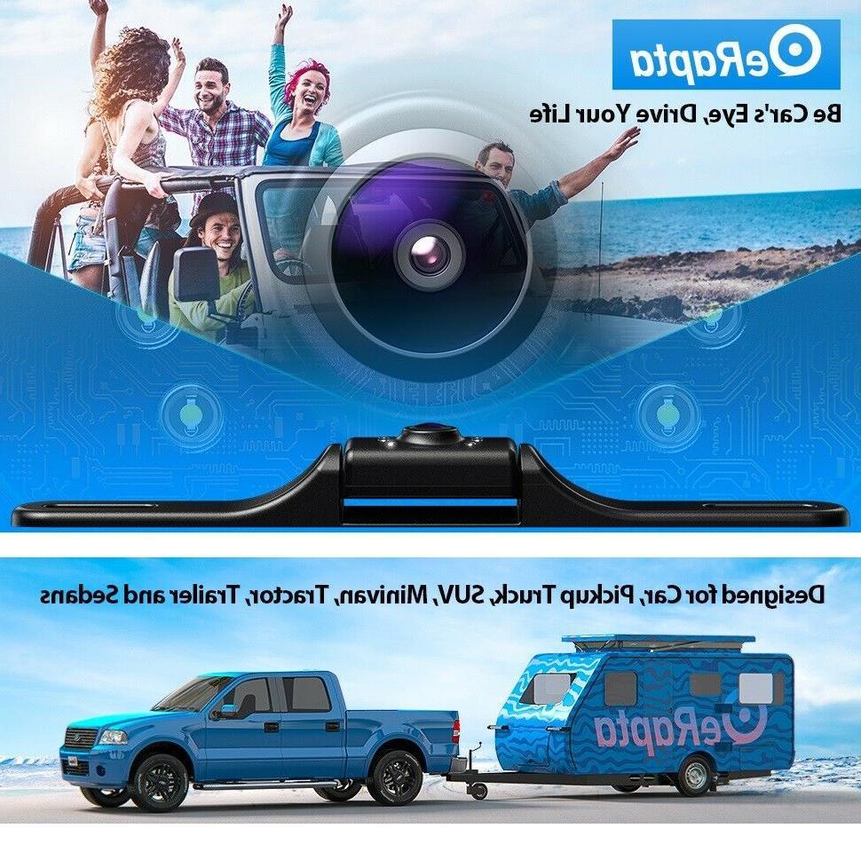 eRapta Backup Waterproof License Nite Vision Car Rear