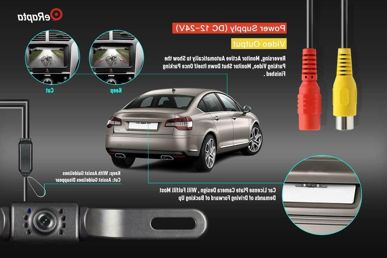 eRapta Camera Waterproof License Plate Nite Vision Rear