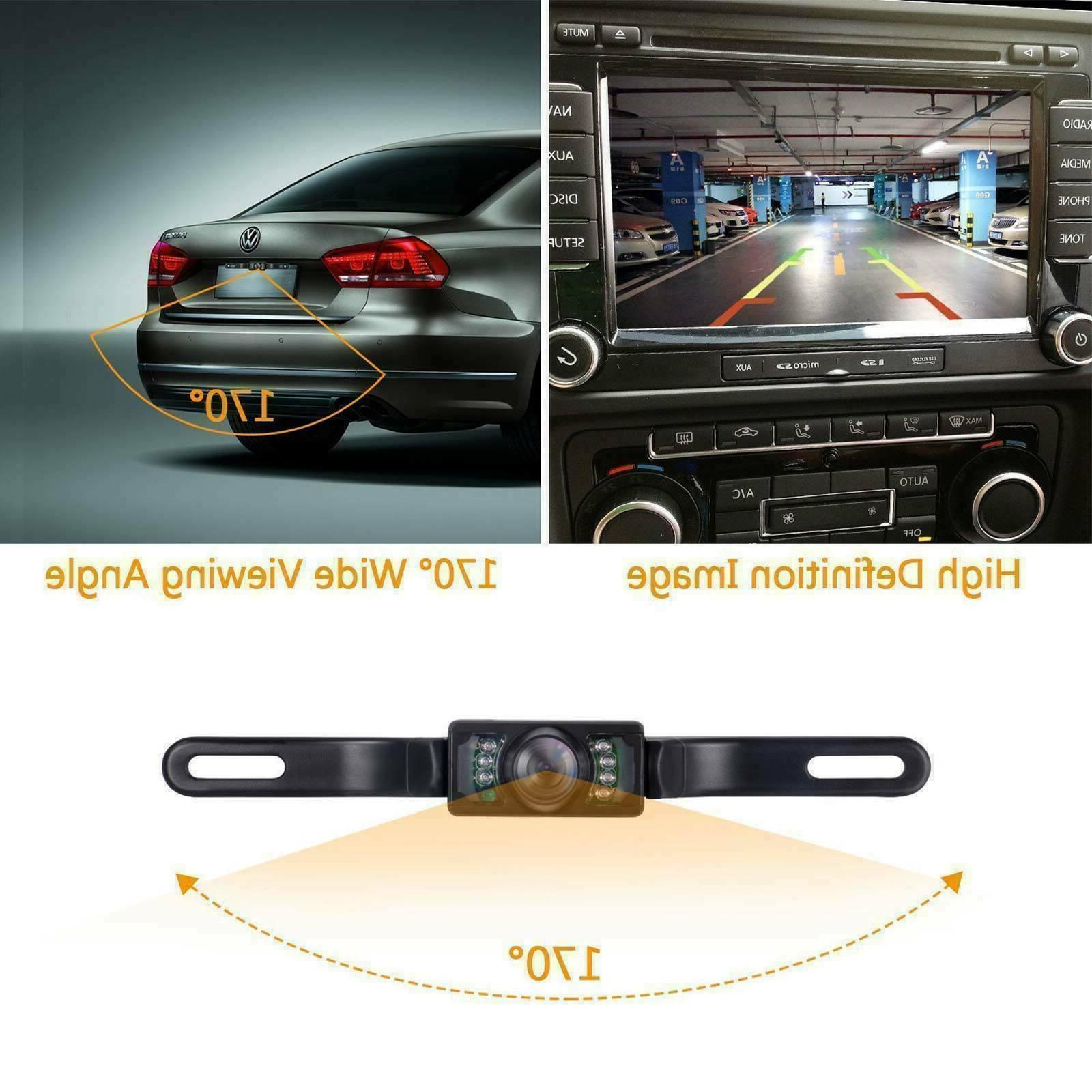 License Plate Car View Camera Parking Reverse Camera