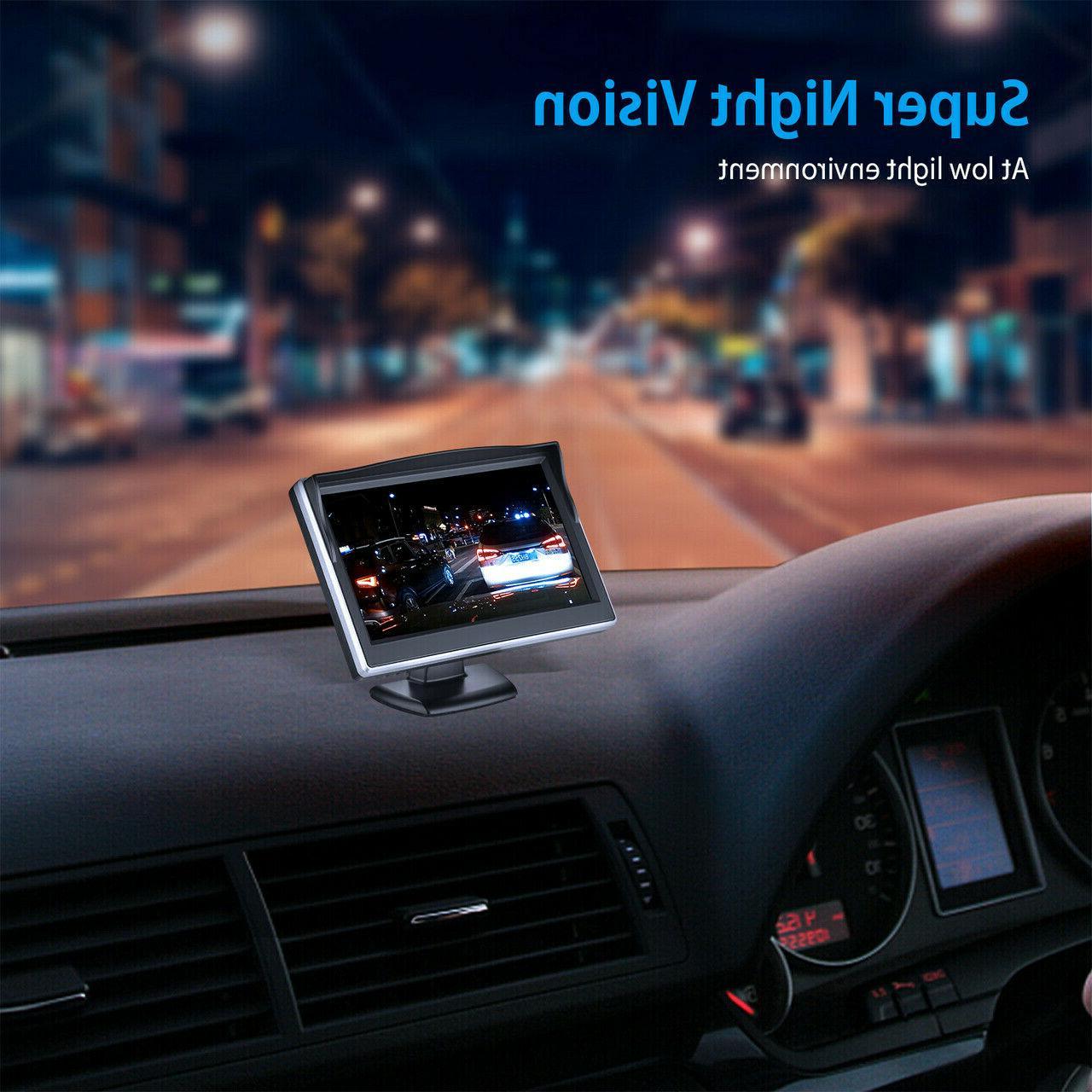 """Night Car Camera View + 5"""" LCD Monitor"""