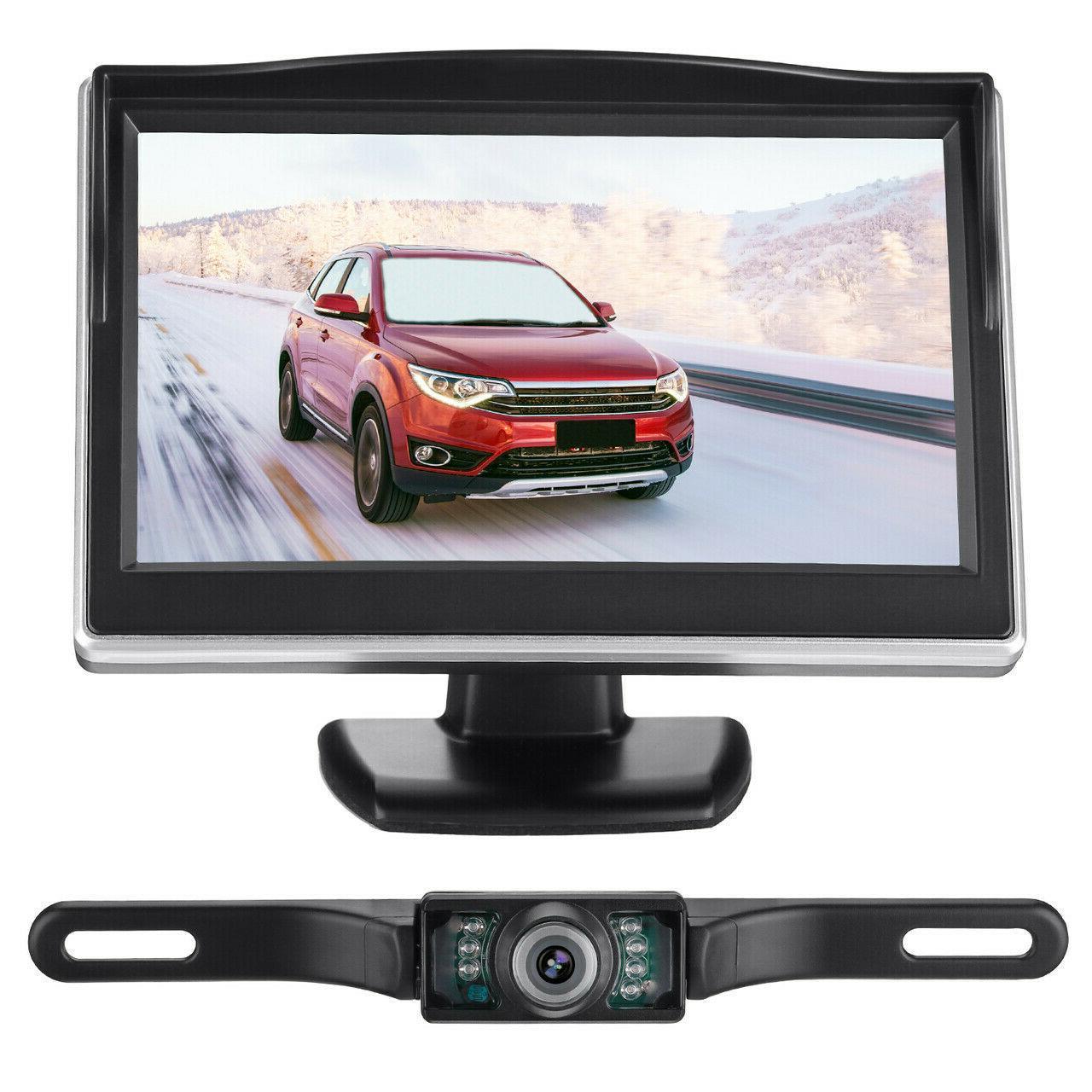 """Night Vision Car Backup Camera System + 5"""" TFT LCD Monitor US"""