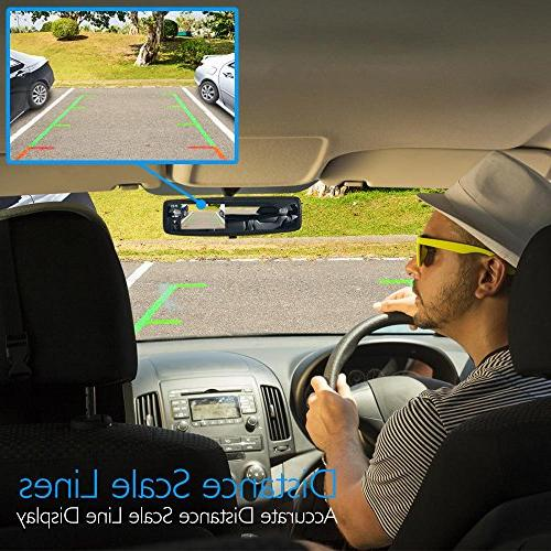 Pyle Wireless Car Camera System - Parking Reverse Scale Lines, Vision Cam, LCD Display