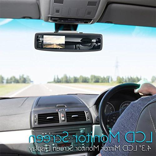 Pyle Backup Camera Rearview Monitor System - Reverse Safety Scale Lines, & Display -