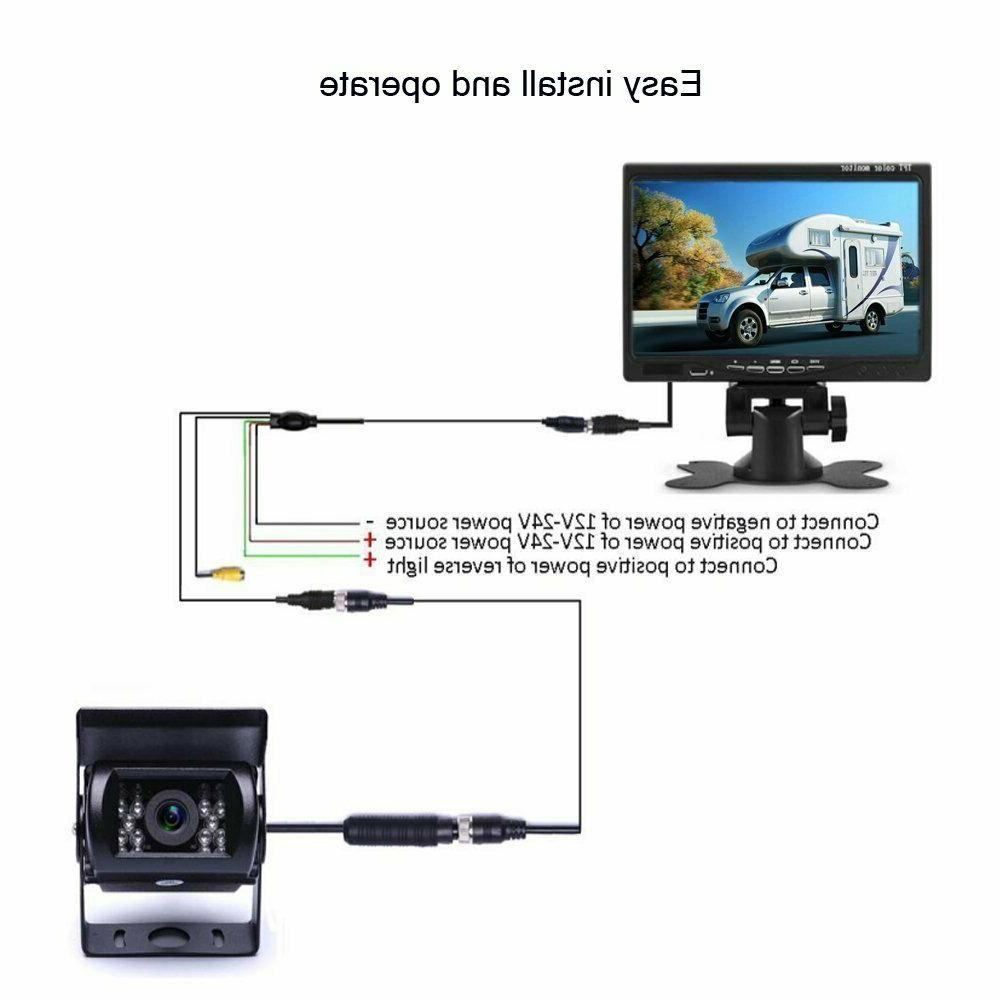 Vehicle Backup Camera TFT LCD Monitor Night Vision Camera