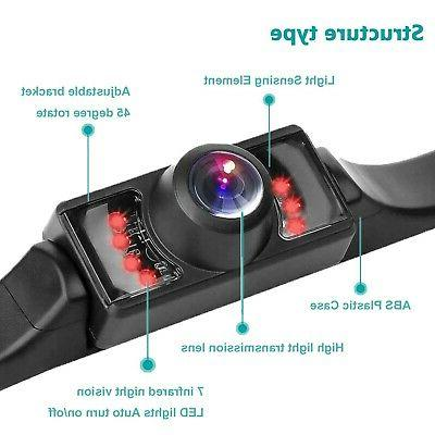 Vehicle Plate Backup Camera View